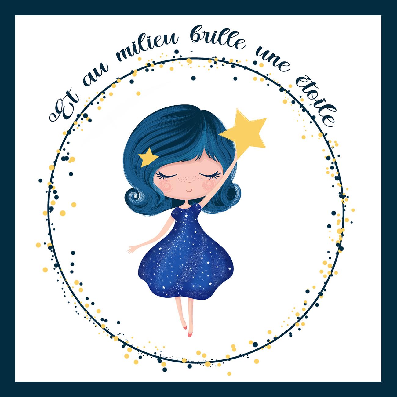 Et au milieu brille une étoile